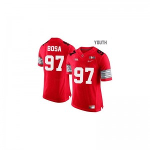 Ohio State Joey Bosa Game Kids Jersey - #97 Red Diamond Quest National Champions Patch