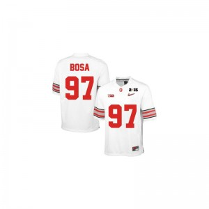 Ohio State Joey Bosa Game Youth(Kids) Jerseys - #97 White Diamond Quest 2015 Patch