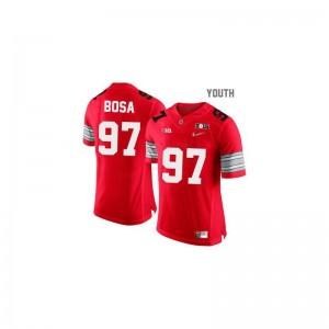 Ohio State Buckeyes Joey Bosa Jerseys Limited Kids #97 Red Diamond Quest National Champions Patch
