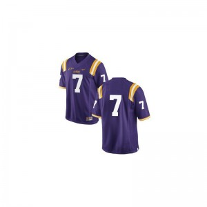 Louisiana State Tigers Stitch Bert Jones Game Jerseys #Purple For Kids