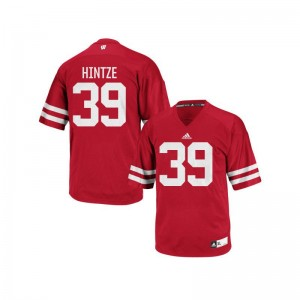 Zach Hintze University of Wisconsin Jersey Authentic Mens Red