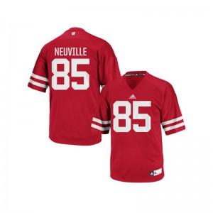 University of Wisconsin Red Replica Men Zander Neuville Jerseys