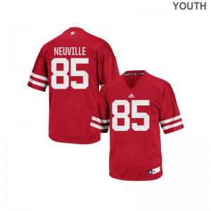 Zander Neuville Jerseys Youth UW Red Authentic